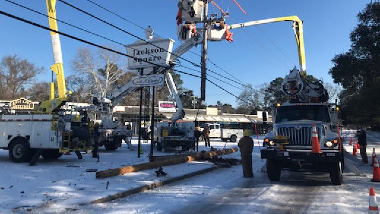 City of Tallahassee Electric Utility crews are providing power to residents in Lousiana