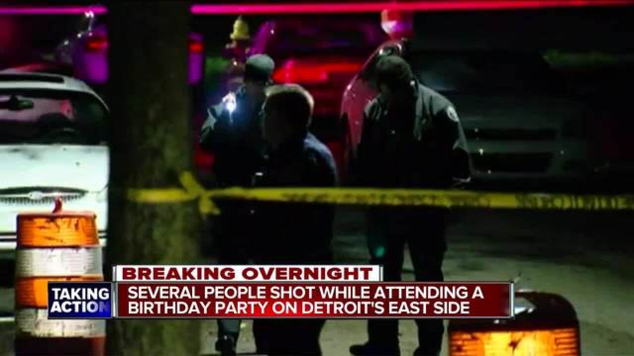 4 injured in Detroit birthday party shooting