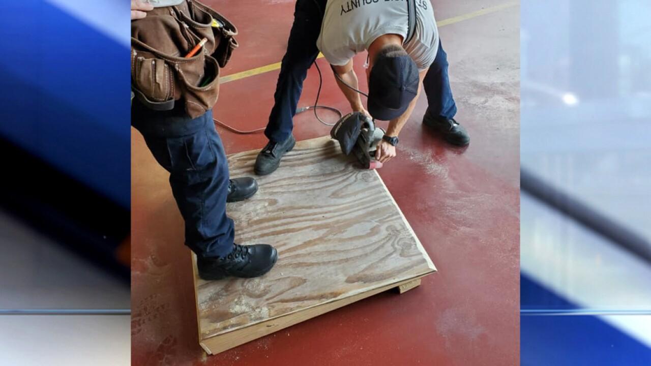 Florida firefighters build wheelchair ramp for elderly man