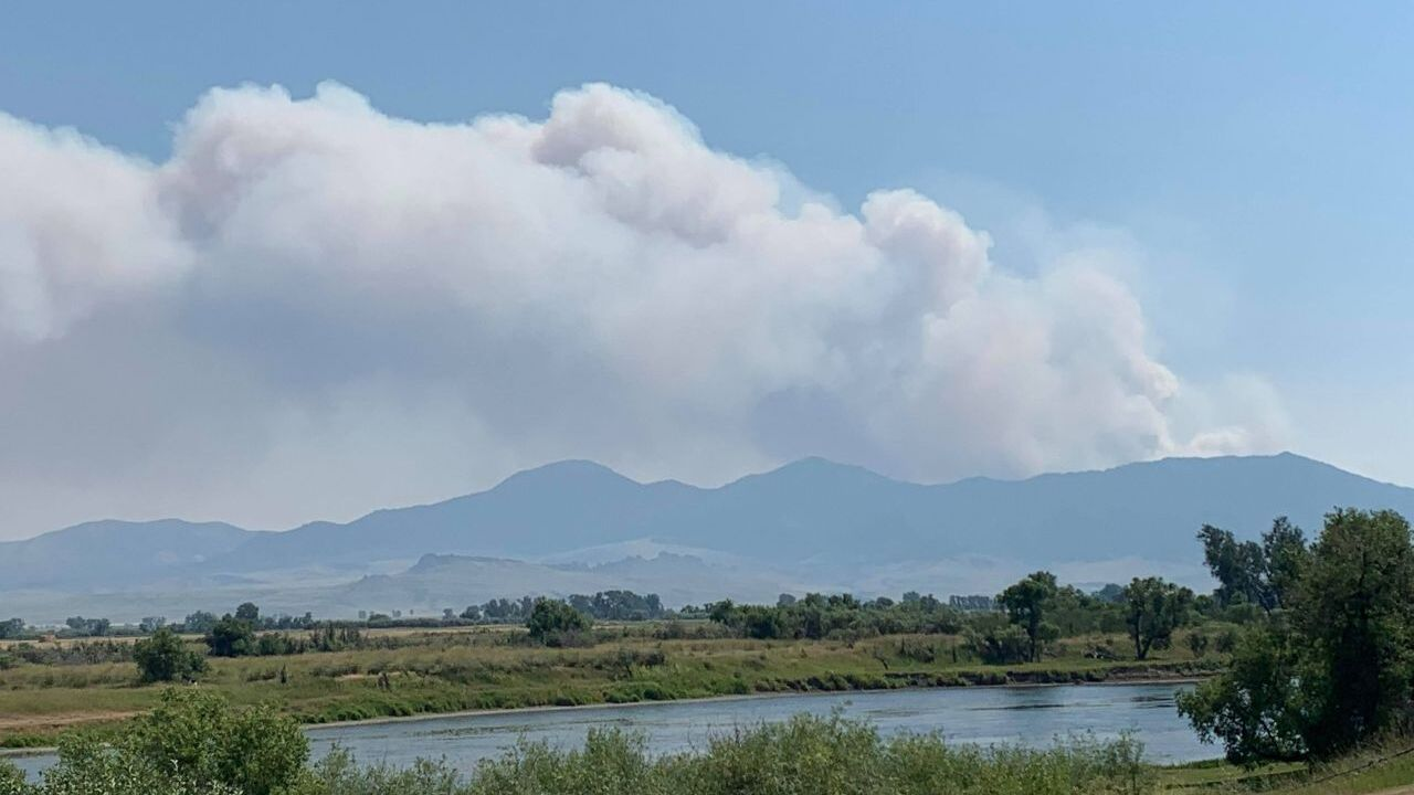 Wildfire burning between Cascade and Craig
