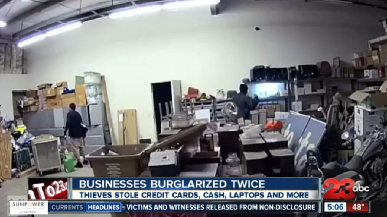 Businesses burglarized twice in S Bakersfield