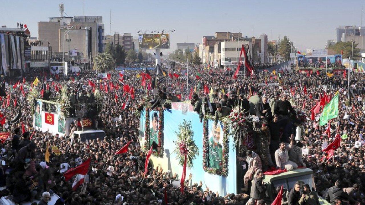 Iran TV: 35 killed in stampede at funeral for slain general