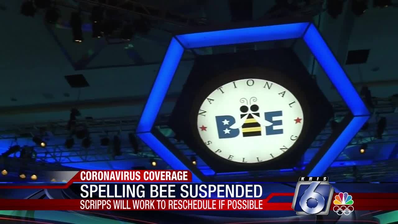 The National Spelling Bee has been suspended because of coronavirus concerns
