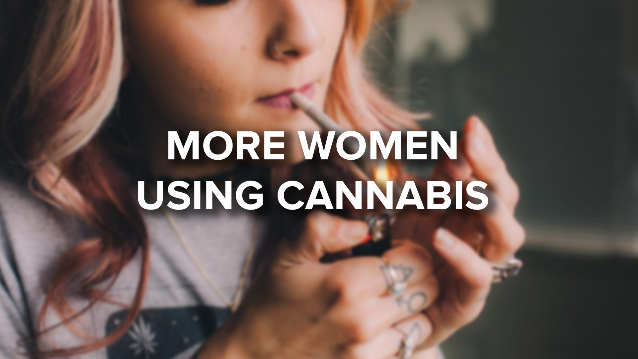 Cannabis use on the rise for women