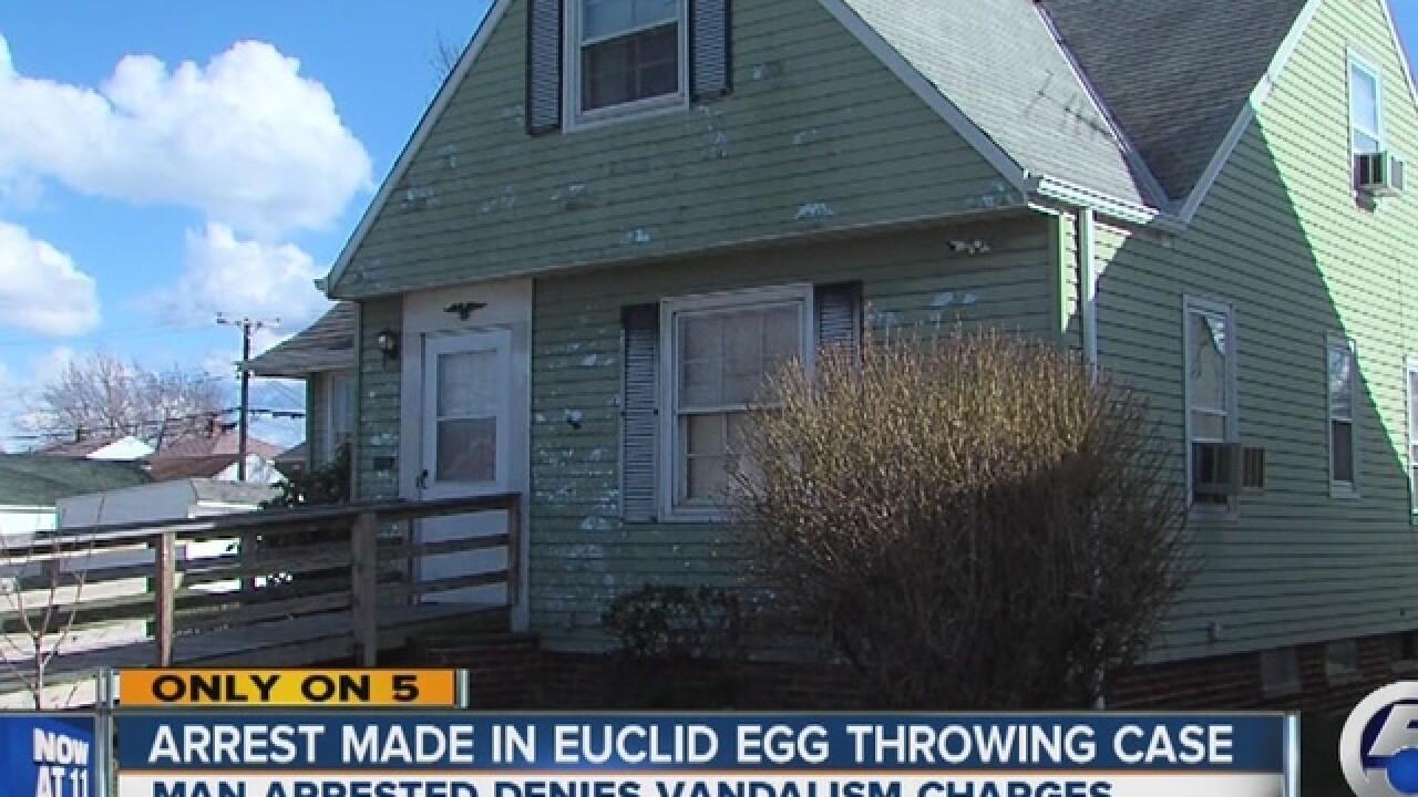 Man arrested in bizarre egg-throwing case