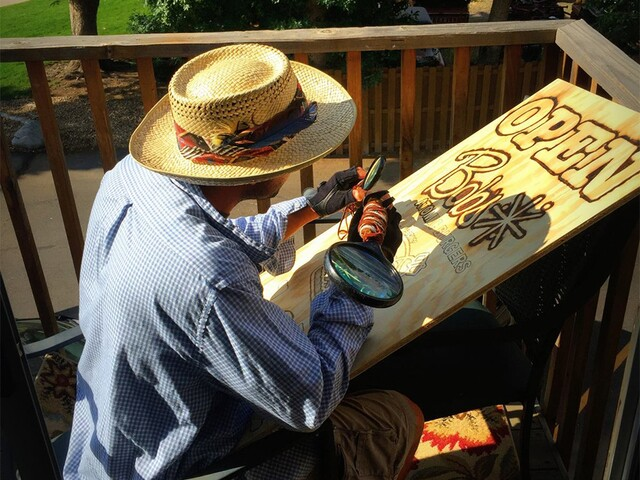 Meet the Golden artist who paints not with a brush, but with the sun