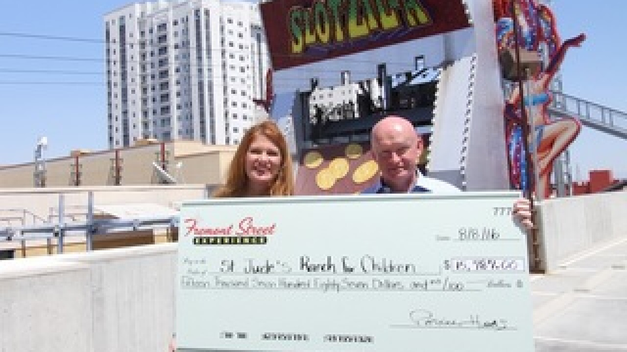 SlotZilla raises $16K for St. Jude's Ranch