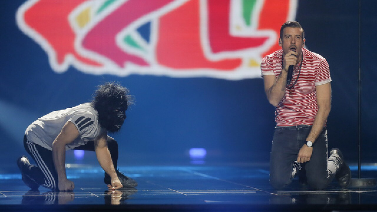 Bring on the 'gorilla:' Eurovision final brings glittery fun