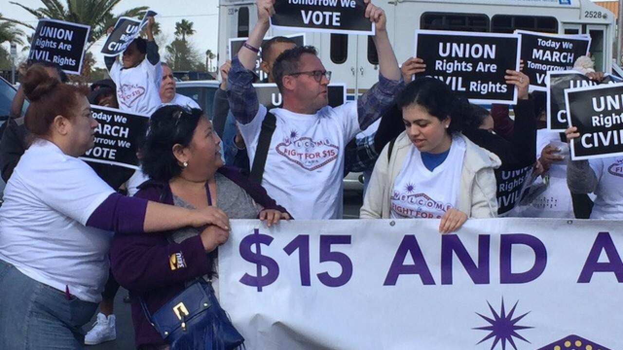 Fight for 15 rally held outside Vegas McDonald's