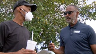 Johnny Parchment and Freddie Woolfork, Indian River County vaccines
