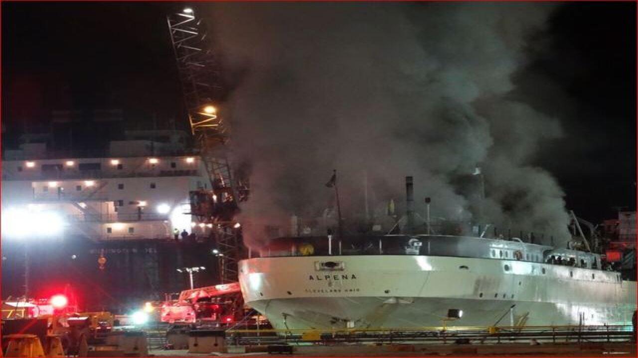 Fire at Bay Shipbuilding in Sturgeon Bay