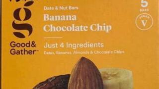 FDA Recall - Banana Chocolate Chip Date & Nut Bar