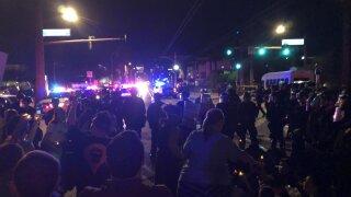 Dozens blocked Phoenix street in immigration protest
