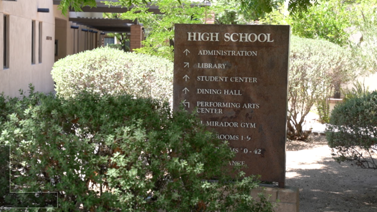 The Gregory School sign