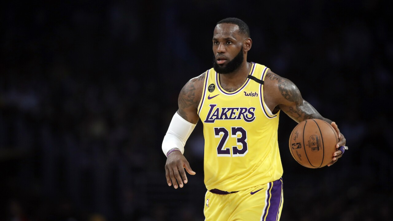 LeBron James pumps up Goodyear after Trump attacks company
