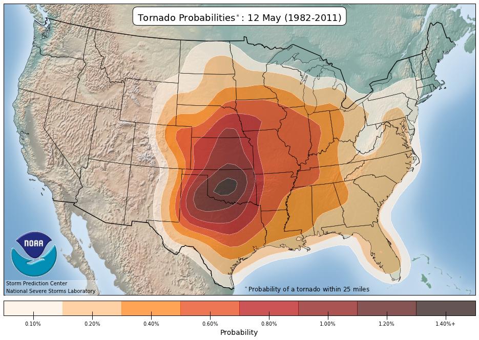 Tornado Probabilities May 12