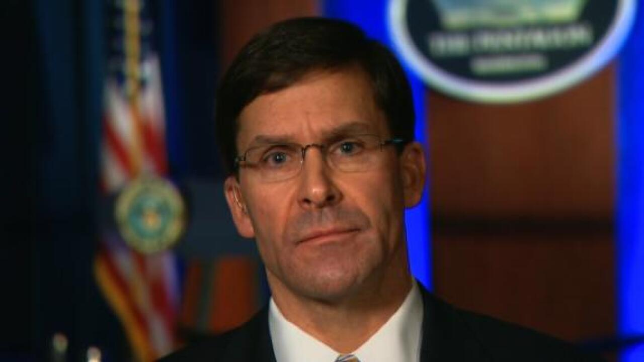 Esper says US isn't looking 'to start a war with Iran, but we are prepared to finish one'