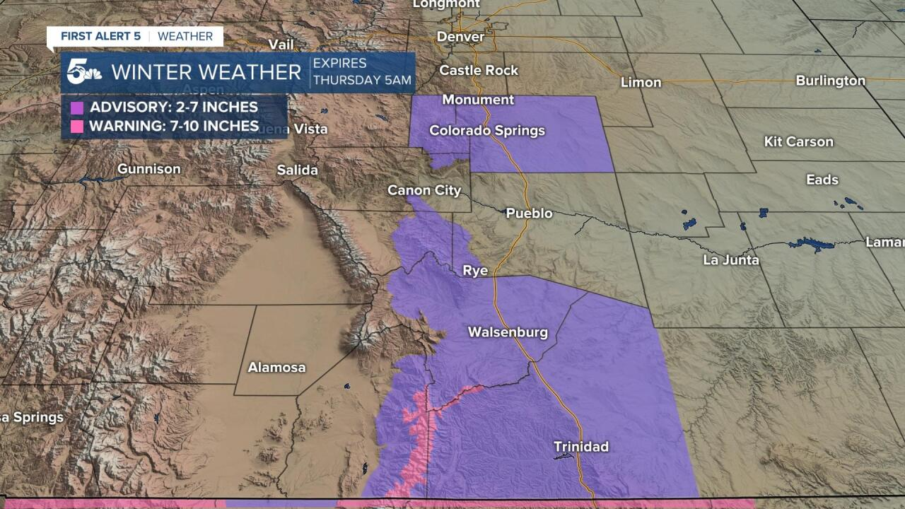 Winter Storm Warnings and Advisories