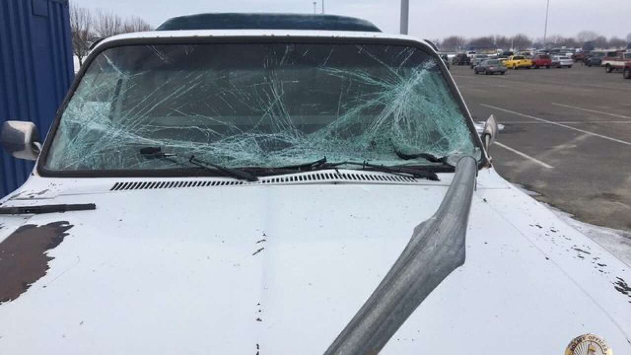 Young Nampa driver lucky to be alive after...