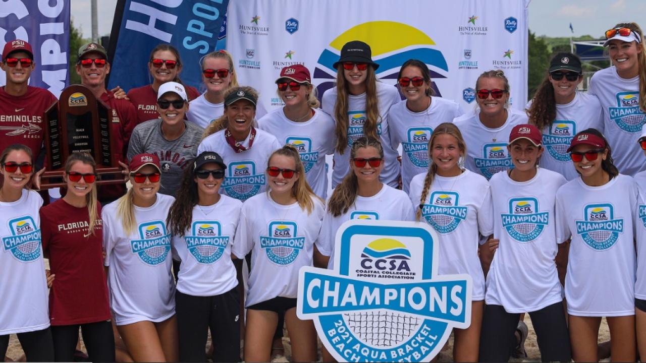 fsu beach volleyball -ccsa title