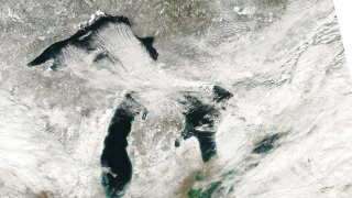Great Lakes ice coverage is significantly down compared to last year