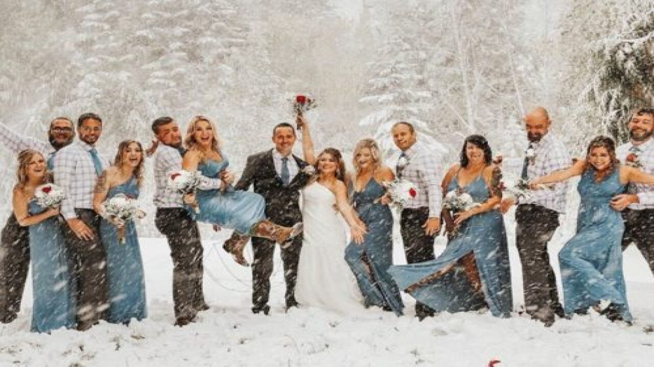 This Wedding Party Ventured Out In A Surprise Snowstorm, And The Photos Are Beautiful