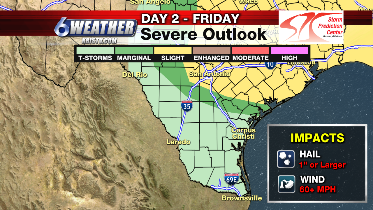 Storm Prediction Center Severe Outlook for Friday 4-23-21