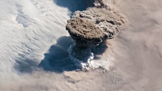 Volcano from space CNN IMAGE