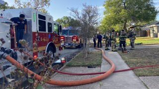Corpus Christi family safe after house catches on fire