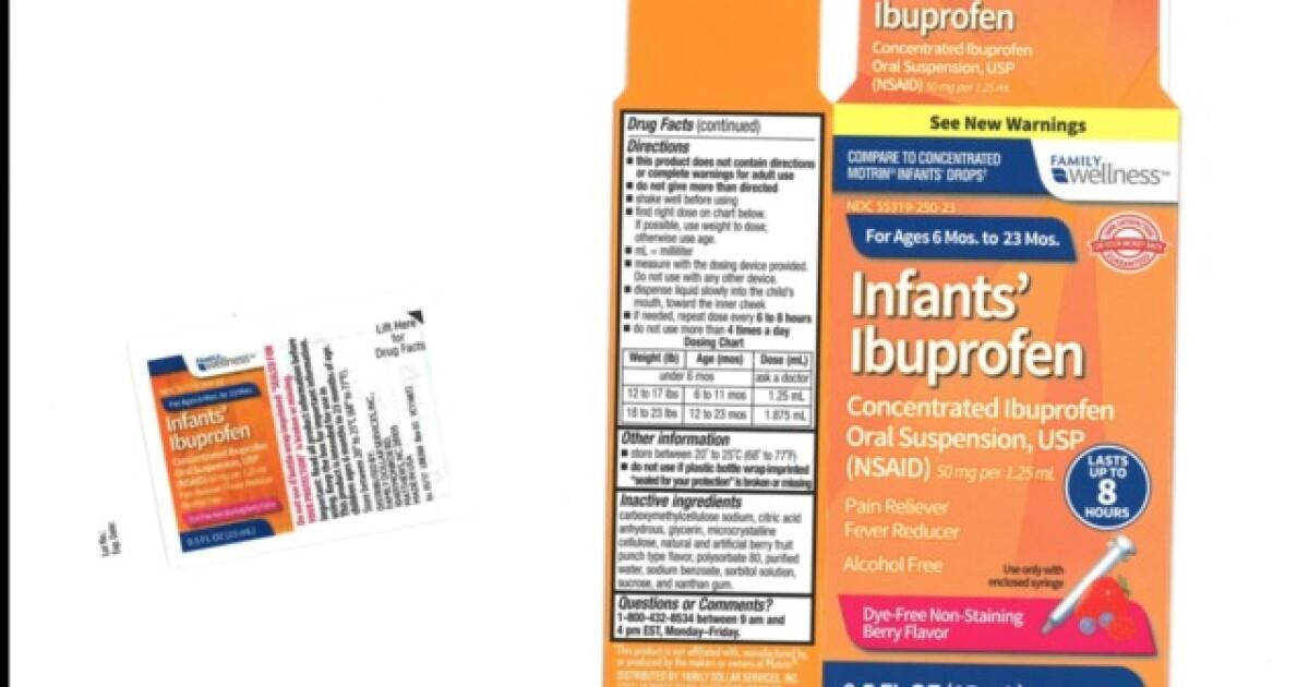 Infant ibuprofen sold at Walmart, CVS recalled