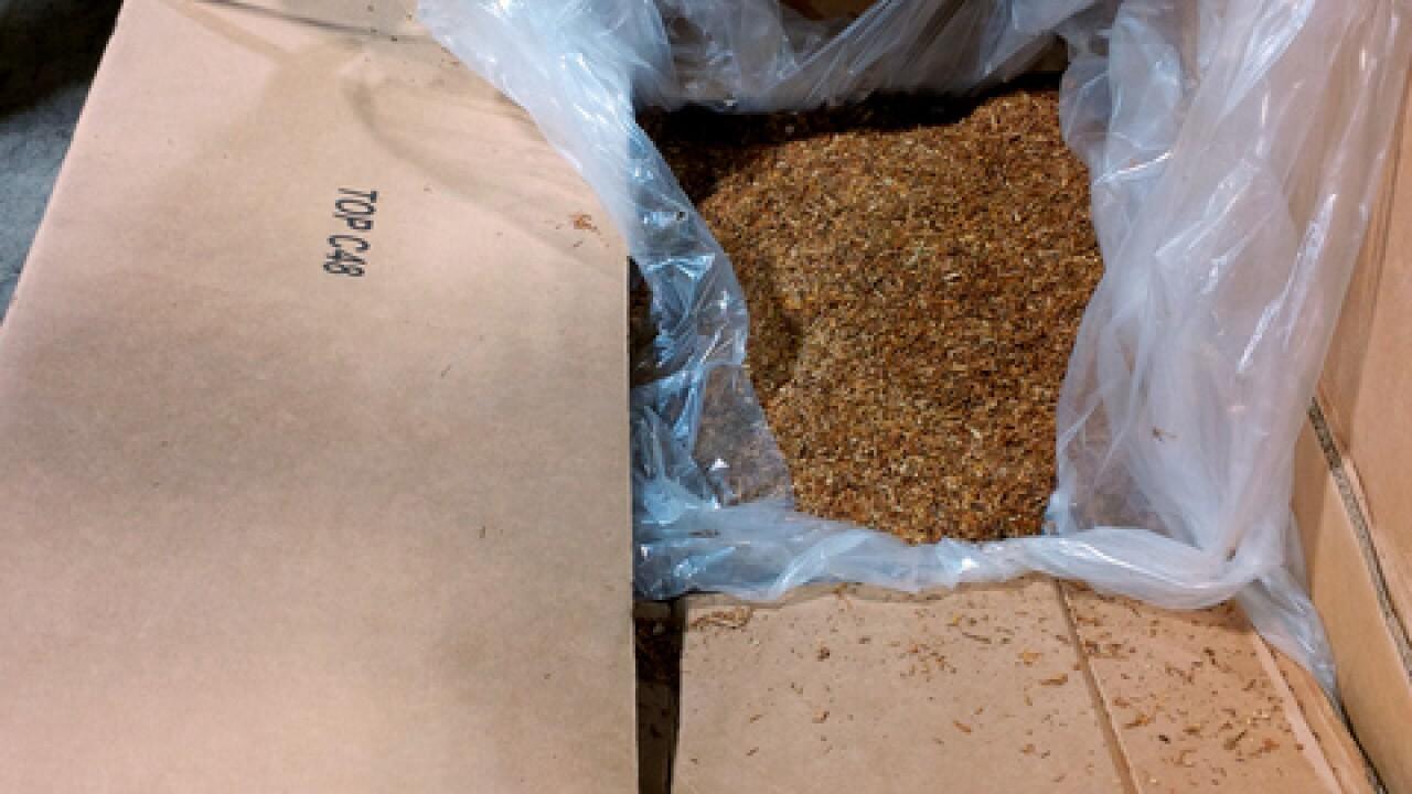 Authorities seize 15,000 kilos of tobacco
