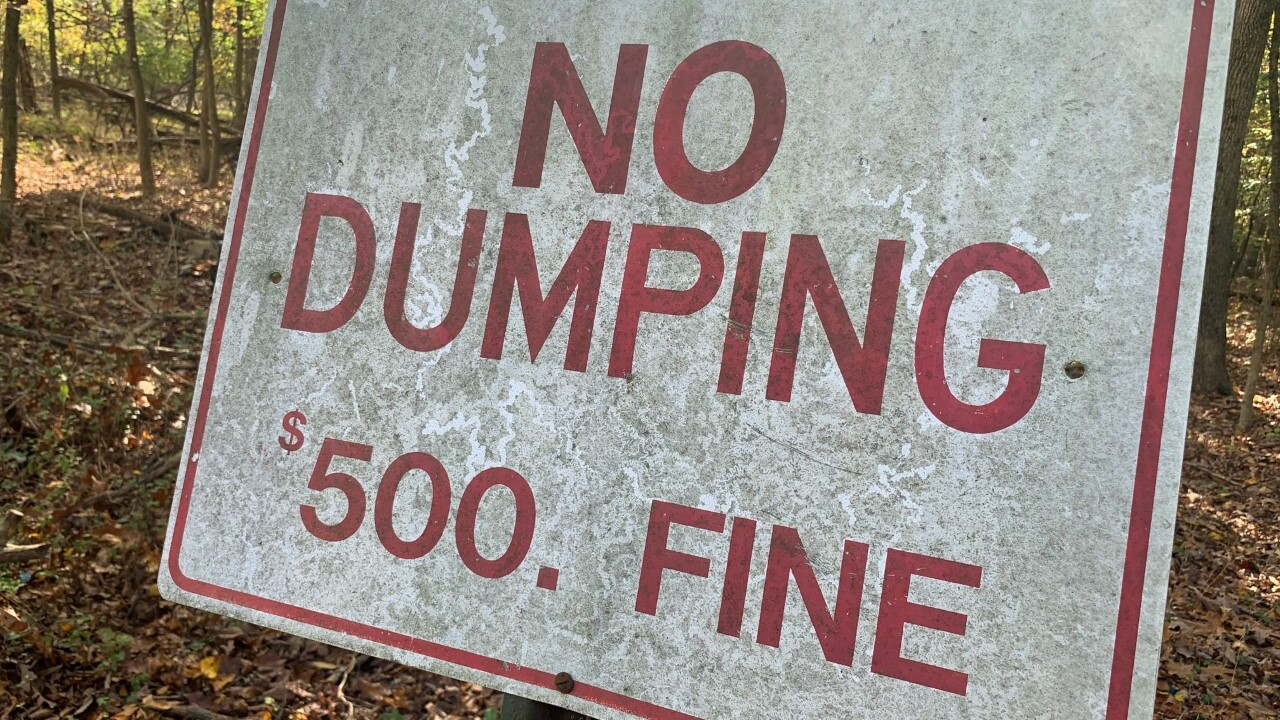 trash dumping in baltimore
