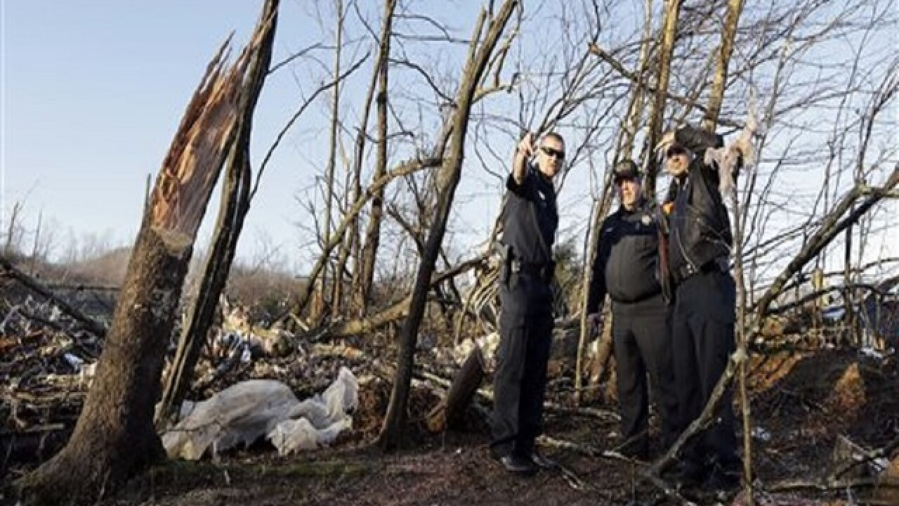 Tornadoes ravage South, kill at least 10