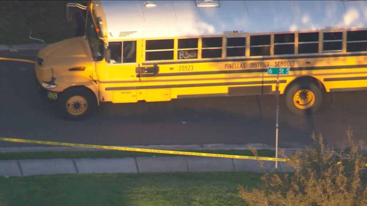 Teen stabbed in the back during bus stop fight