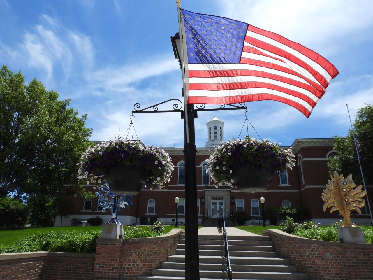 A view of the Otoe County Courthouse near downtown Nebraska City..JPG