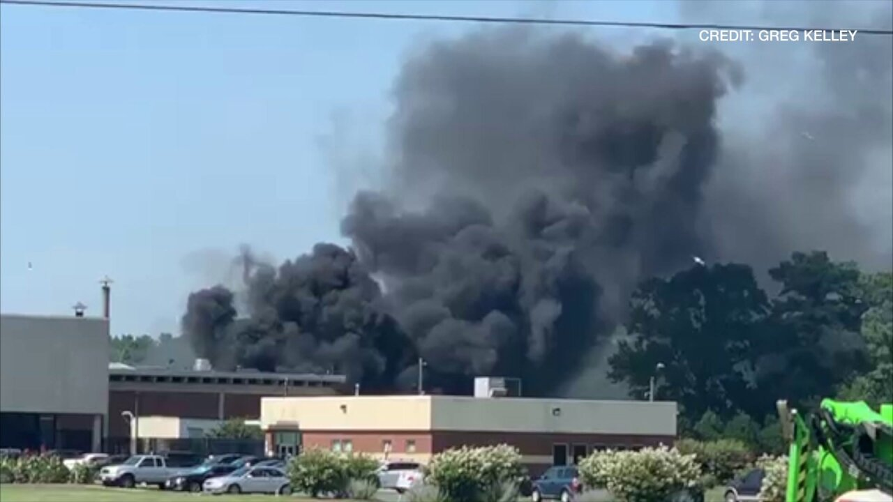 No injuries reported after crews battle fire outside Perdue Plant inAccomac