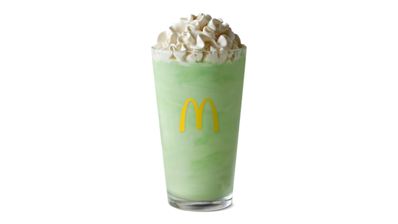 'Shamrock Shakes' are back at McDonald's