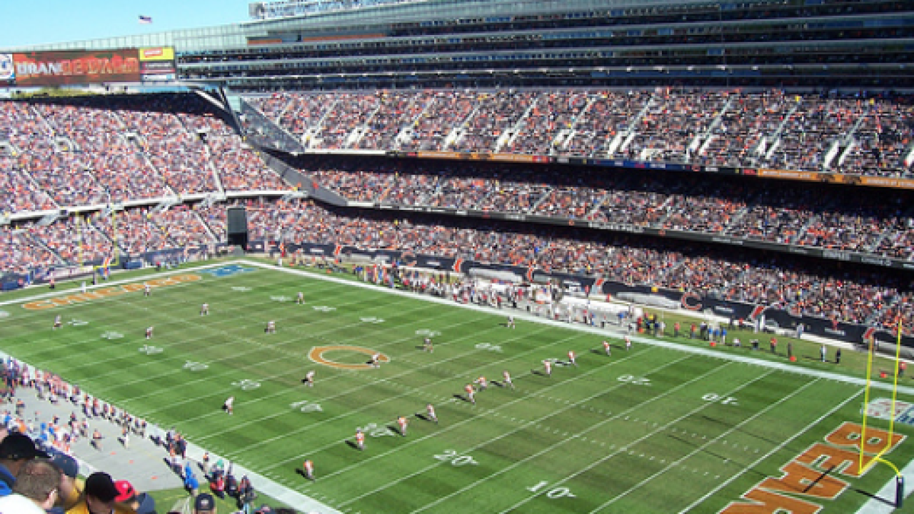 Soldier Field in Chicago, site of 100th NFL season opener between Packers and Bears