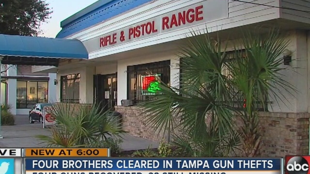 Charges dropped against brothers in gun heist