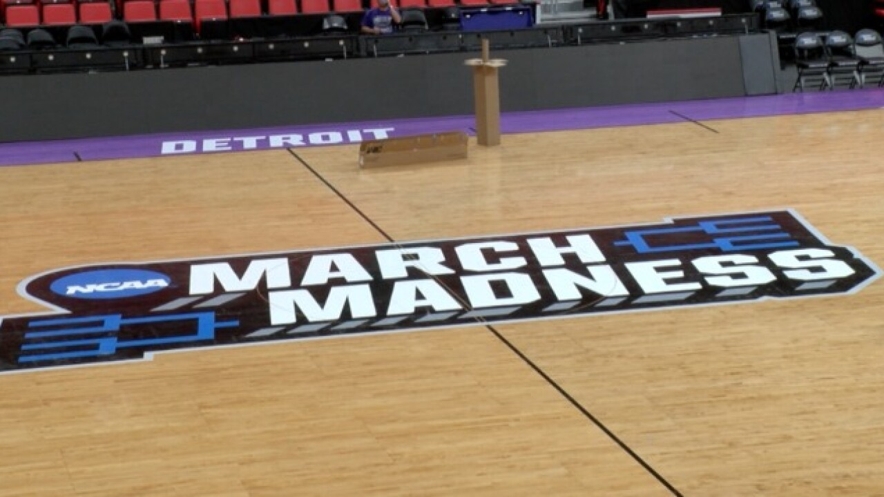 Little Caesars Arena gets March Madness makeover