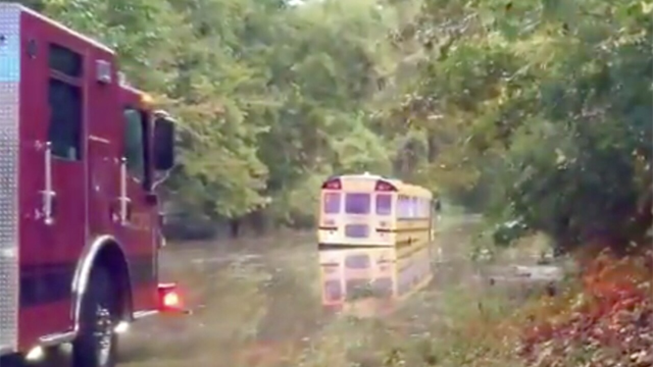 KCFD rescues kids on school bus in high water