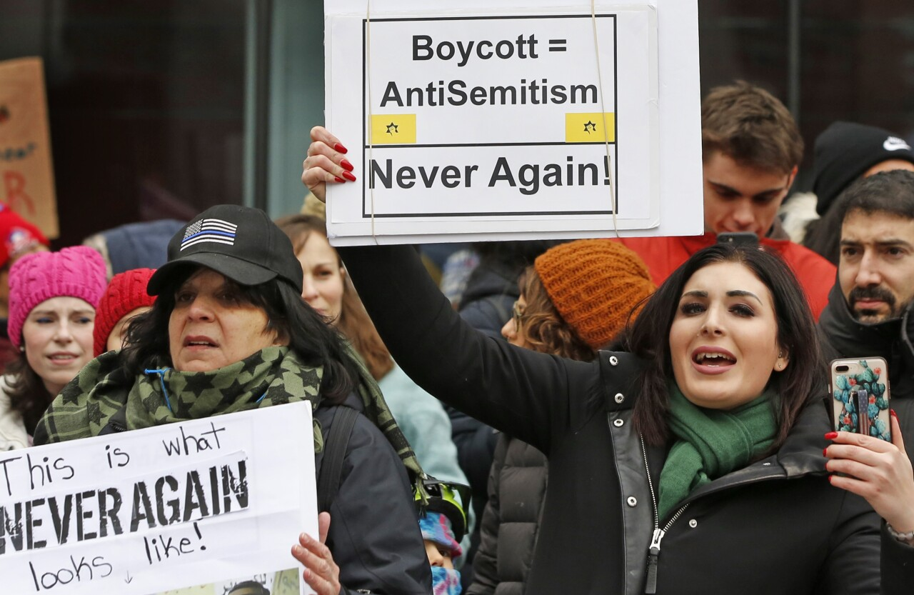 Laura Loomer at New York women's march in January 2019