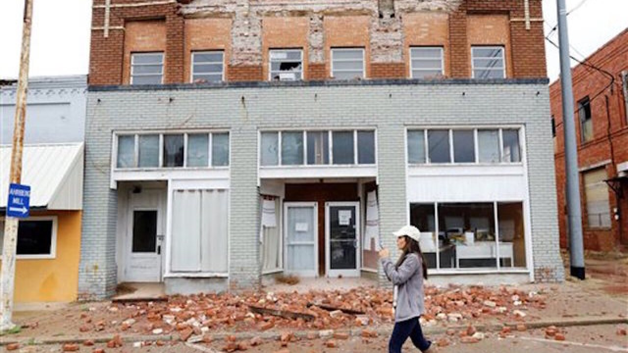 40 to 50 buildings damaged in Oklahoma earthquake