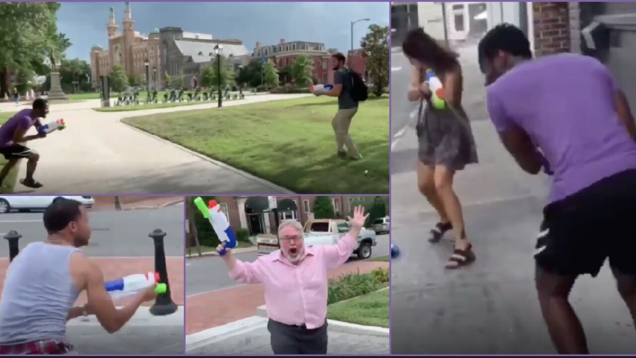The story behind viral water gun fight video shot inRichmond