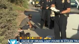 Cache of drugs, loot found in stolen truck