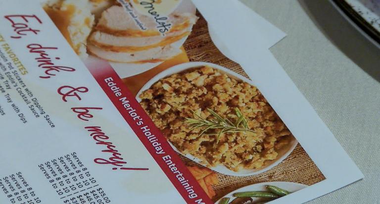 Eddie Merlot's carryout Thanksgiving menu.png