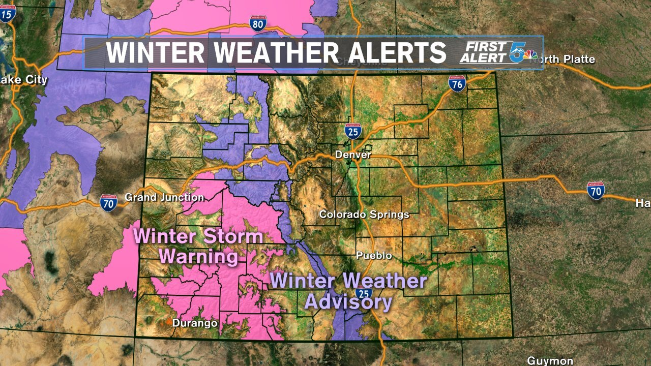 Colorado Springs Weather Map A forecast of rain, snow and cold temperatures returns to Southern