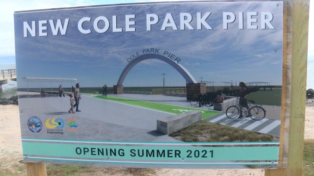 Cole Park Pier sign