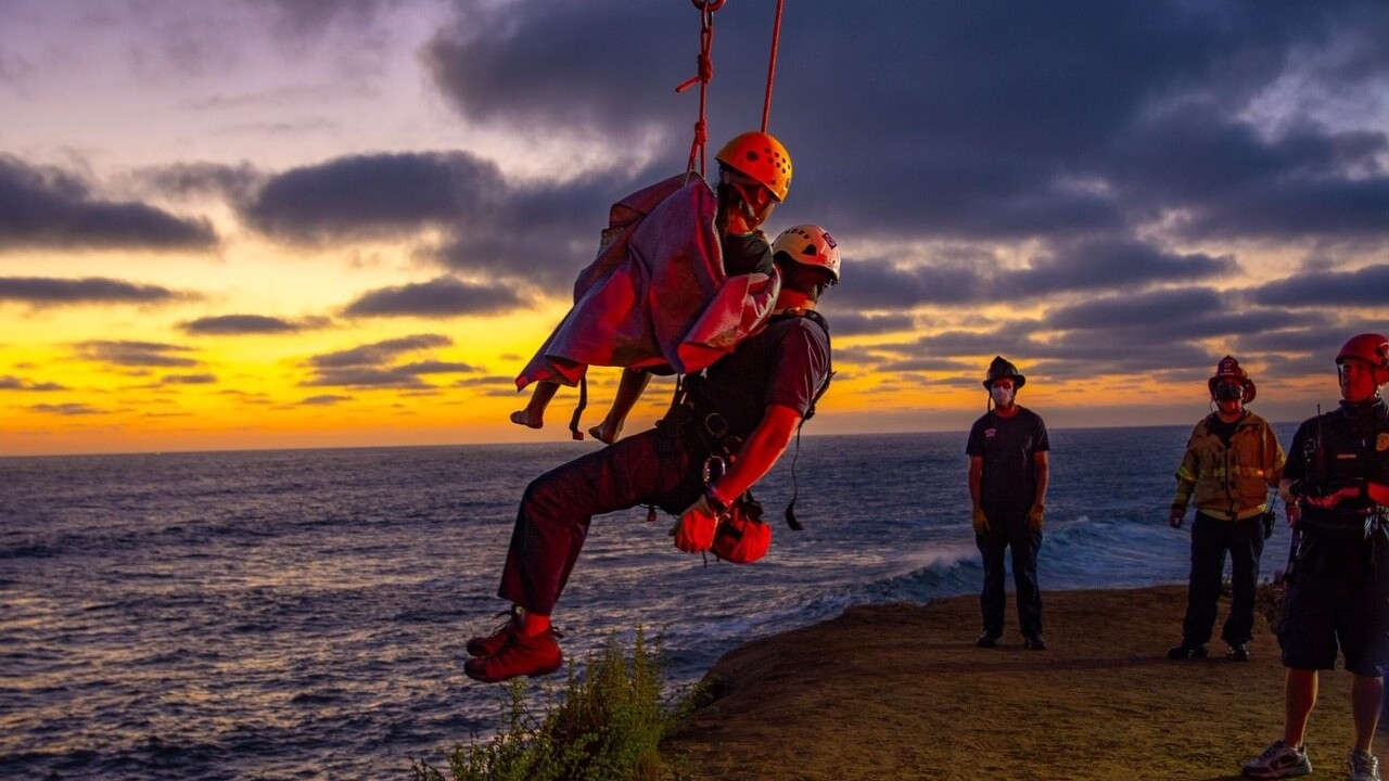 Two rescued at Sunset Cliffs after bystanders jump in to help