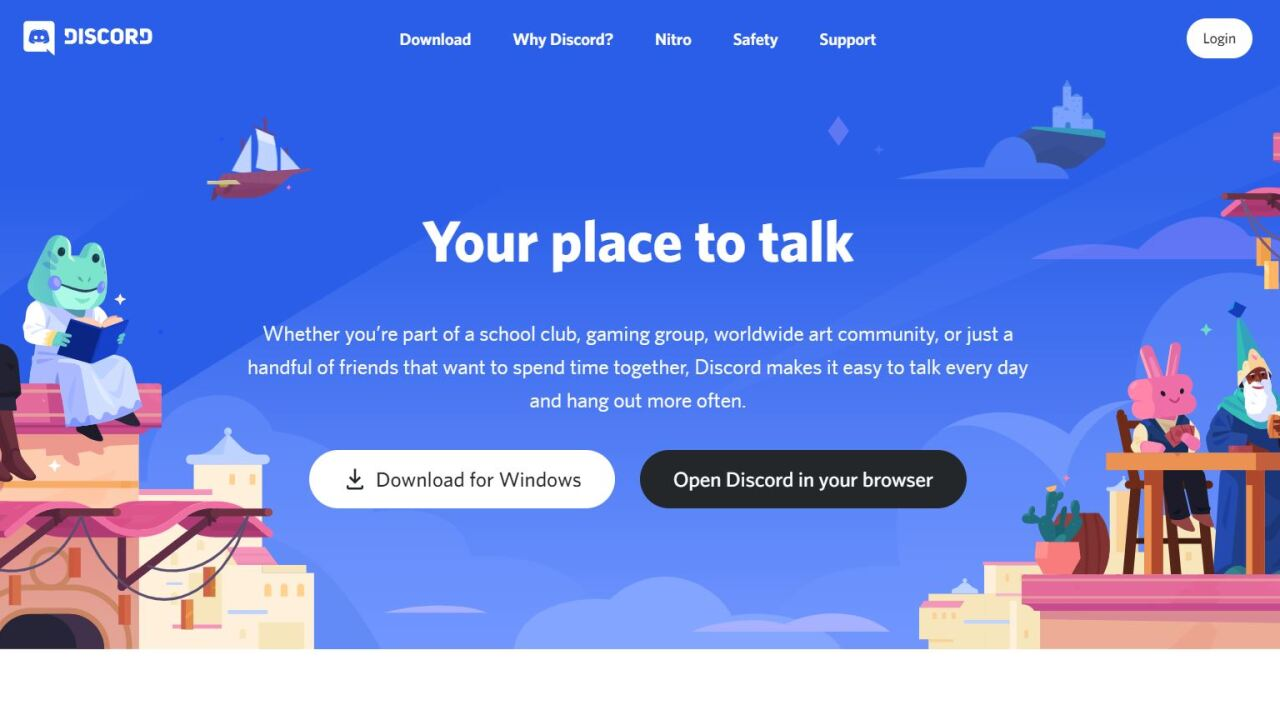 This is a screen shot of Discord, a platform that allows people to chat and communicate online
